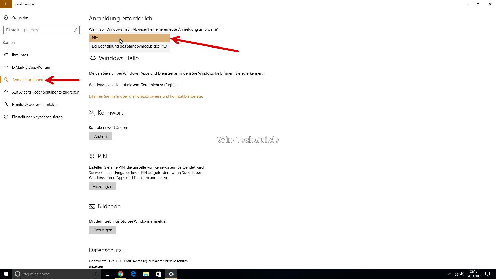 Automatisch anmelden ohne Passwort Windows 10 | Windows 10